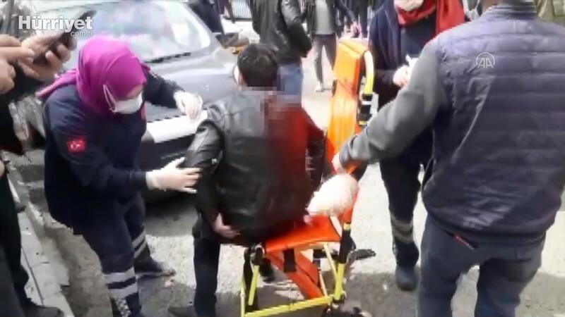 Sırtında bıçakla hastaneye götürülen kişi tedavi altına alındı