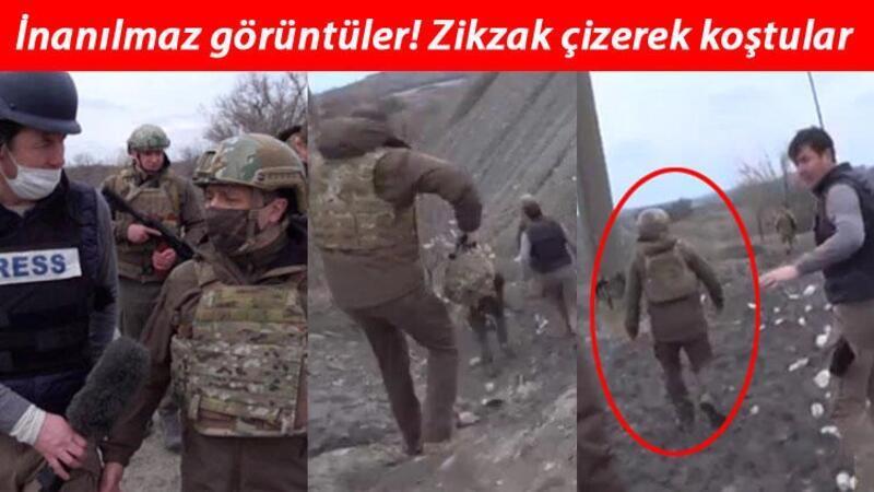 Ukrayna Devlet Başkanı Zelenski, keskin nişancıların hedefi olmamak için böyle görüntülendi