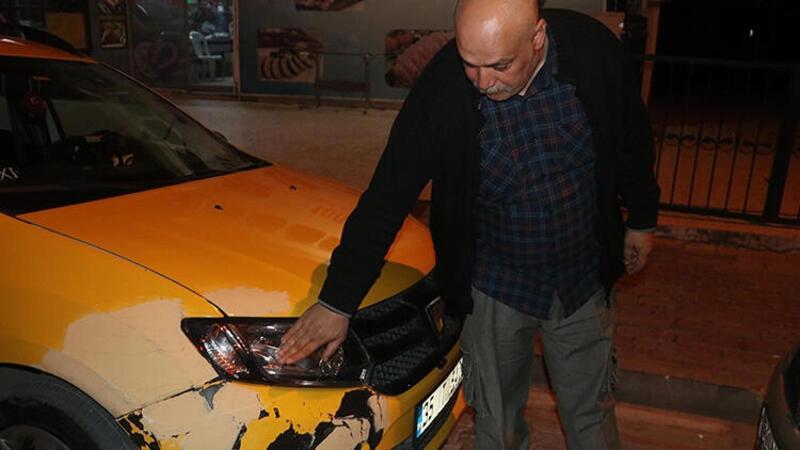 Kaçırdığı taksiyle yayaya çarpan kadını böyle yakaladılar