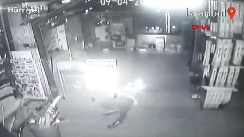 Güngören'de 'sürüngen hırsızlar' kamerada