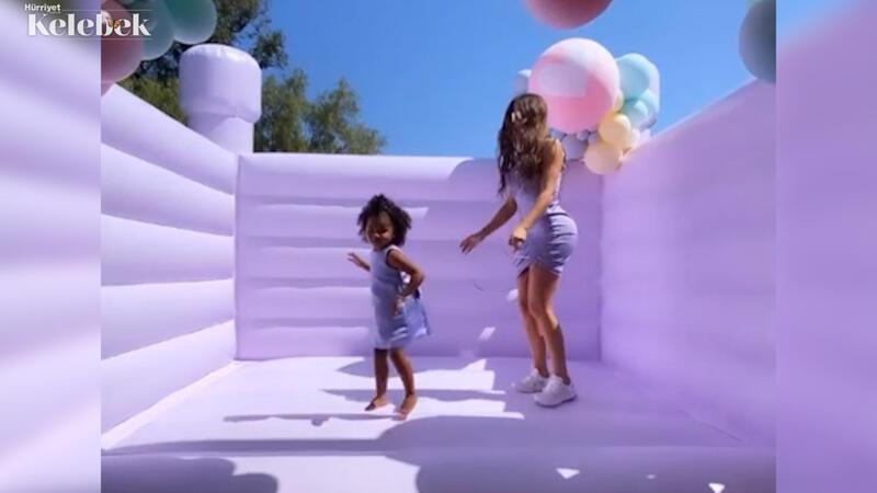 Khloe Kardashian kızının doğum günü için kesenin ağzını açtı