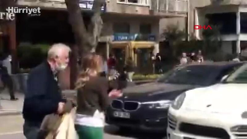 Bağdat Caddesi'nde sinir krizi geçiren kadın trafiği birbirine kattı