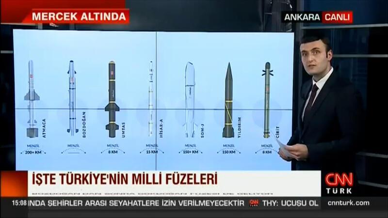 İşte Türkiye'nin Milli füzeleri