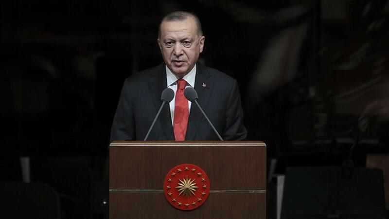 Erdoğan, Cumhurbaşkanlığı Millet Kütüphanesi'nde gençlerle bir araya geldi