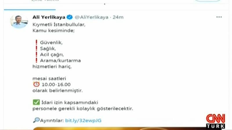 İstanbul'da mesai saati değişti