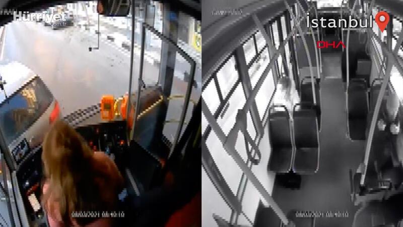 Telefona bakarken kaza yapmıştı, işine son verildi; kaza anı kamerada