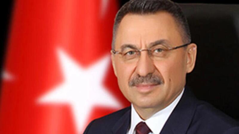 Cumhurbaşkanı Yardımcısı Oktay, KKTC Maliye Bakanı Dursun Oğuz'u kabul etti