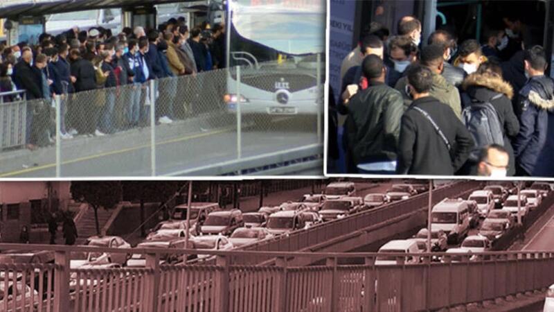 İstanbul'da kısıtlamaya dakikalar kala aşırı yoğunluk
