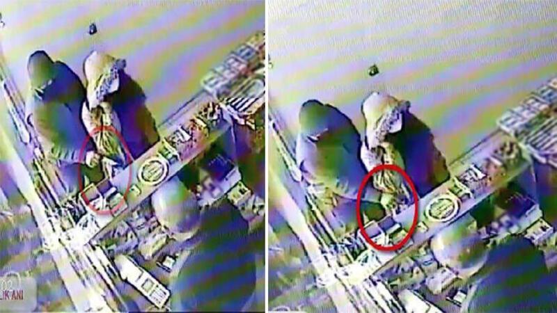 Gaziantep'te yankesicilik şüphelisi kameradan yakalandı