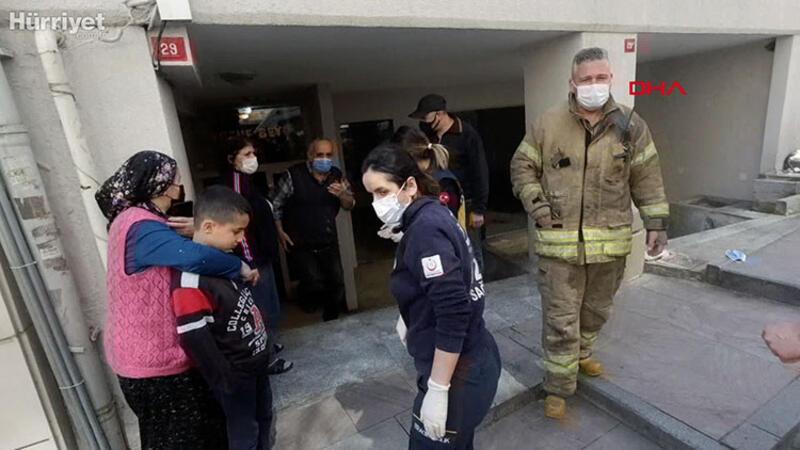 Su deposunda tinerden etkilenen işçi bayıldı; Onu kurtaran apartman görevlisi de fenalaştı