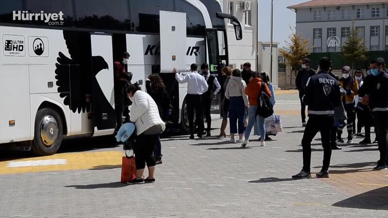 Kovid-19 testi pozitif çıkan yolcunun bulunduğu otobüsteki 48 kişi karantinaya alındı