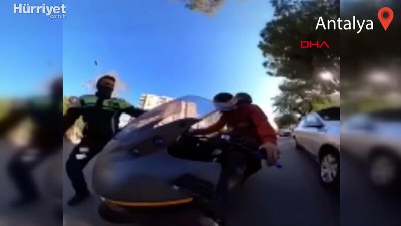 Motosikletle ihlal etmediği kural kalmayan sürücüye 6 bin 781 TL ceza