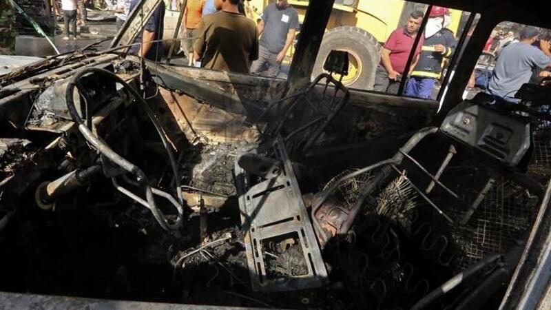 Bağdat'ta bomba yüklü araç patladı! Ölü ve yaralılar var