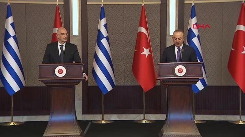 Dışişleri Bakanı Mevlüt Çavuşoğlu, Yunan mevkidaşı Dendias ile basın açıklaması yaptı