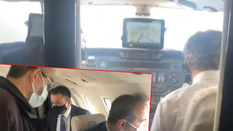 Bakan Pakdemirli'nin uçağı acil iniş yaptı