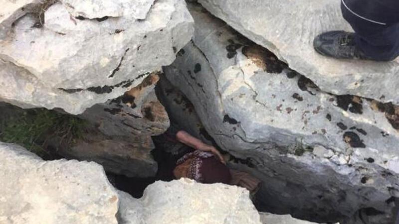 Adıyaman'da 3 gün önce kaybolan alzheimer hastası kadın, kayalıkların arasında bulundu