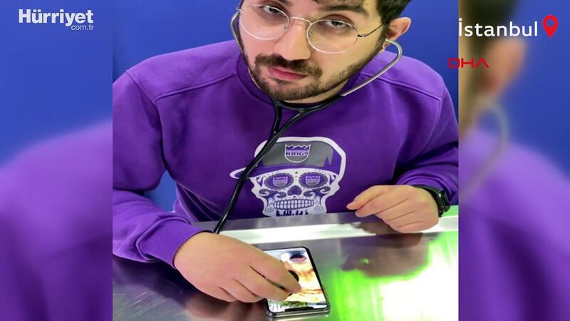 Veteriner hekimden esprili 'telefonda muayene' paylaşımı