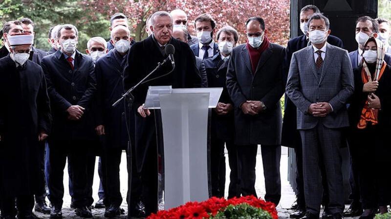 Cumhurbaşkanı Erdoğan 8. Cumhurbaşkanı Turgut Özal için düzenlenen anma törenine katıldı
