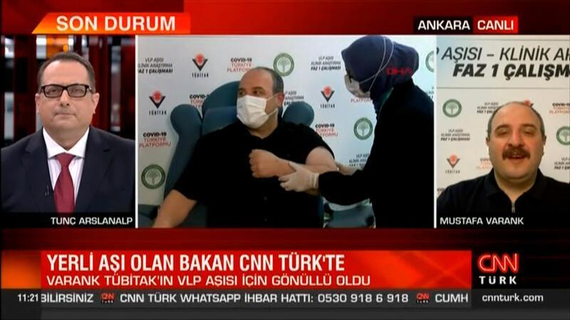 Bakan Varank, yerli aşı için gönüllü oldu