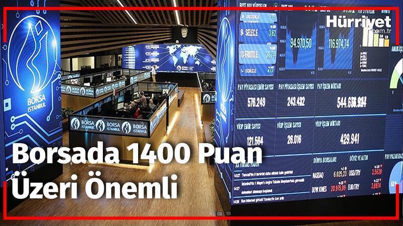 Borsada 1400 puan üzeri önemli | Borsa ve Emtia Dünyası