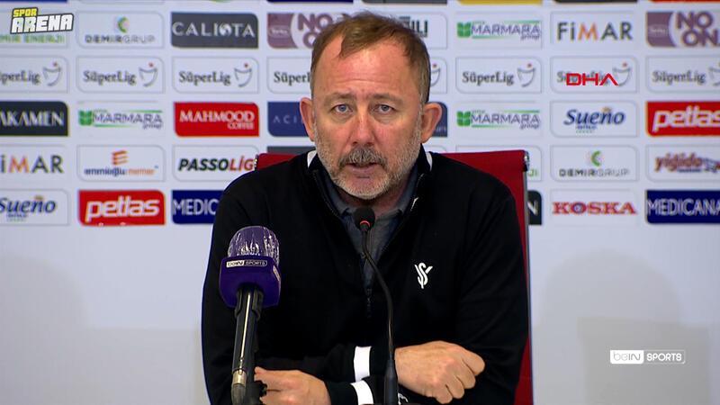 Demir Grup Sivasspor-Beşiktaş maçının ardından Sergen Yalçın açıklamalarda bulundu