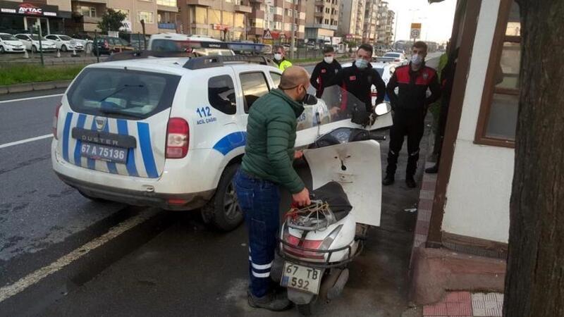 Kovid-19 hastası karantinadan çıkıp kaza yapan babasının yanına gitti