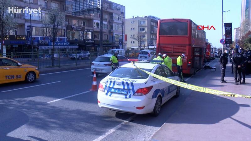 Beşiktaş'ta çift katlı İETT otobüsü kaza yaptı; 1 ölü, 1 yaralı