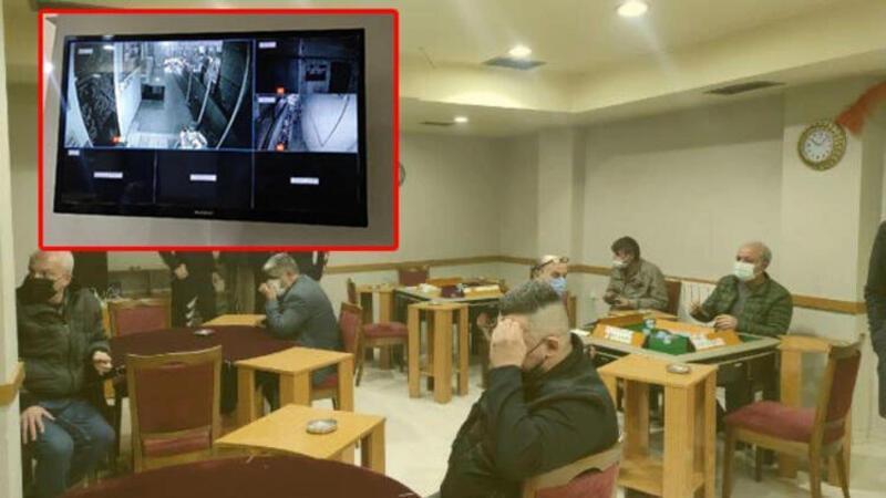 Güvenlik kamerasıyla önlem de yetmedi! Polis baskınından kaçamadılar