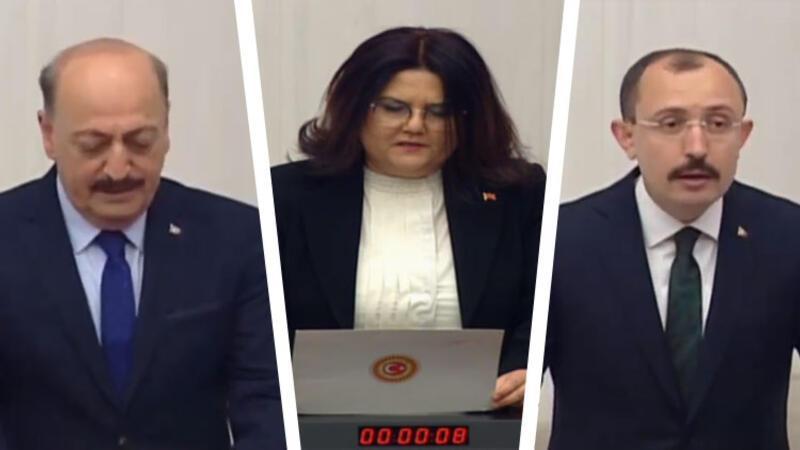 Kabineye giren üç yeni bakan yemin etti