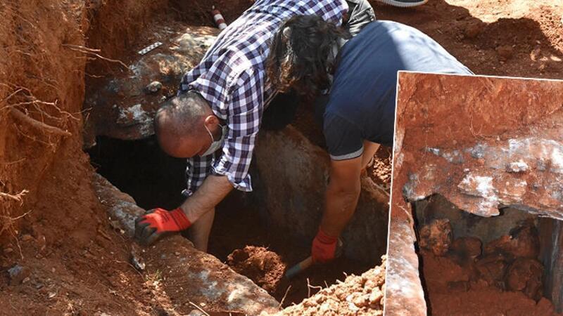 Muğla'da yol çalışmasında 2 bin 300 yıllık mezar bulundu