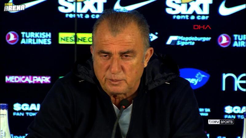 Trabzonspor ile 1-1 berabere kalan Galatasaray'da Teknik Direktör Fatih Terim açıklamalarda bulundu