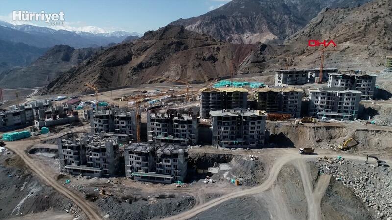 Baraj inşaatı nedeniyle Yusufeli ilçesi yeni yerleşim alanına taşınacak