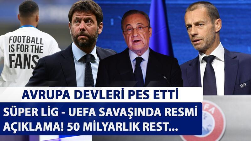 Avrupa devleri pes etti! UEFA'dan 50 milyarlık dava resti...