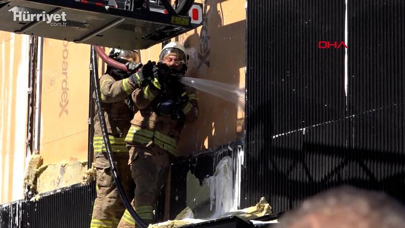Etiler'de ünlü et lokantasında yangın çıktı