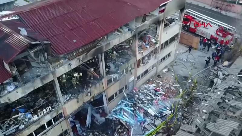 Bağcılar'da fabrika yangını