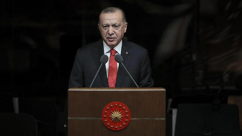 Cumhurbaşkanı Erdoğan, cuma namazının ardından cemaate hitap etti