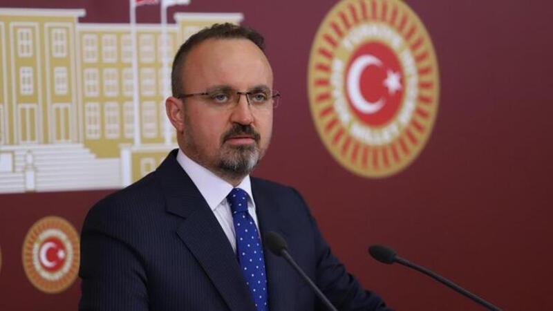 AK Parti Grup Başkanvekili Bülent Turan TBMM'de basın toplantısı düzenledi