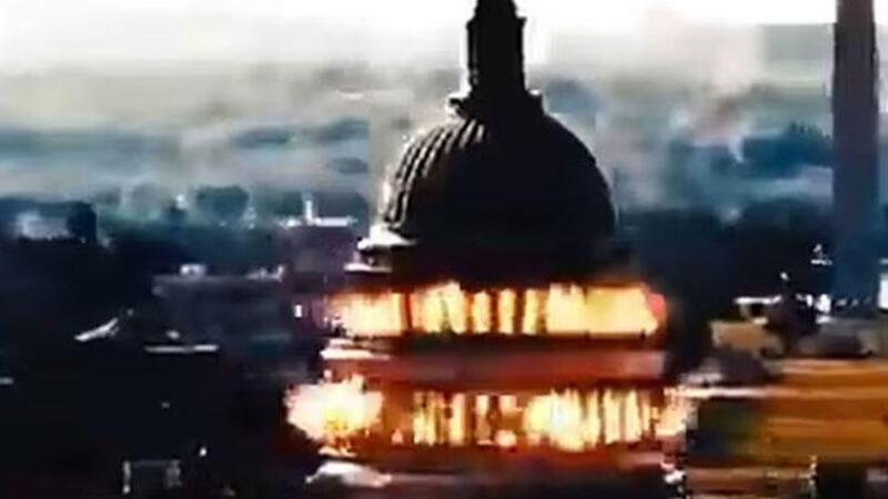 İran simülasyon video ile ABD Kongre Binası'nı vurdu