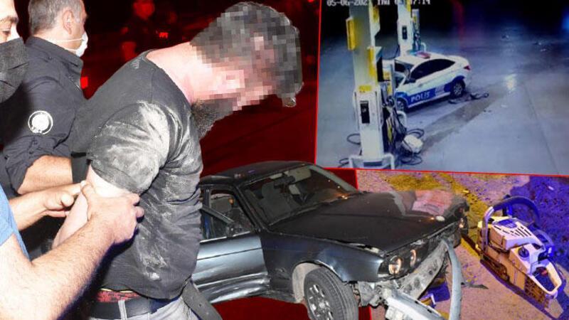 100 kilometre süren film gibi kovalamaca kazayla bitti; 1 polis yaralandı, şüpheli gözaltına alındı