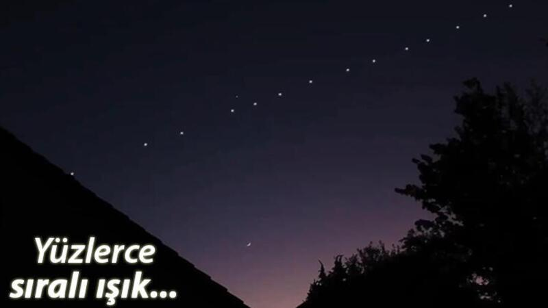 Gökyüzünde merak uyandıran ışıklar! Bakan Varank açıkladı