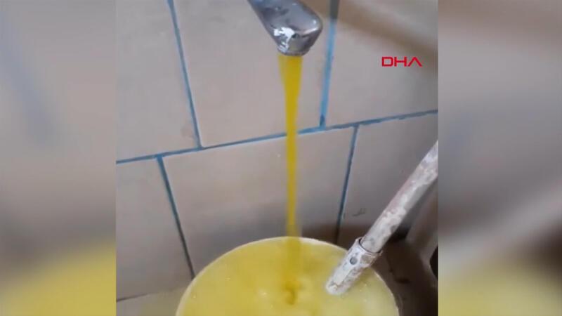 İçme suyu şebekesine zirai ilaç karıştı; çeşmelerden su sarı renkli aktı