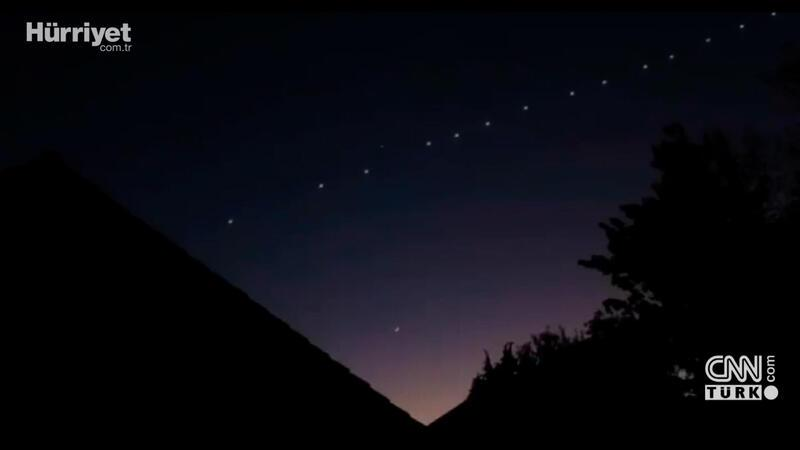 Elon Musk's Starlink satellites spotted over Turkey's skies