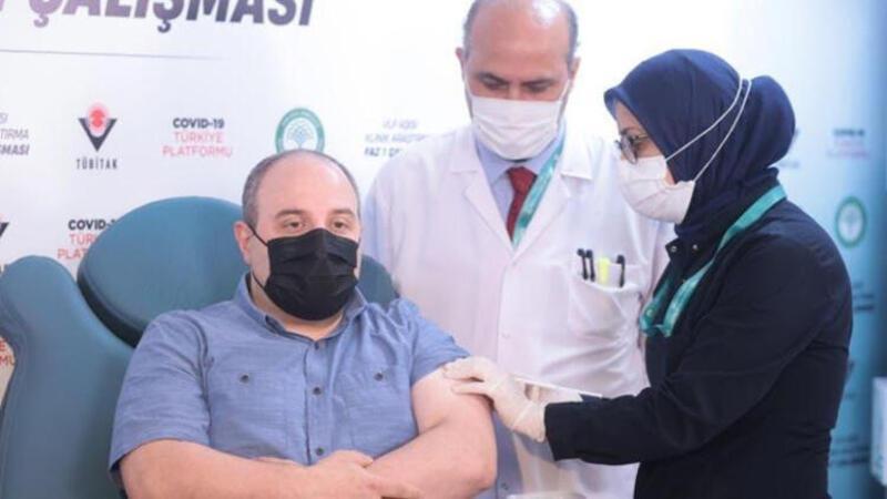 Varank, yerli imkanlarla geliştirilen Faz-1 aşamasındaki VLP aşının ikinci dozunu yaptırdı