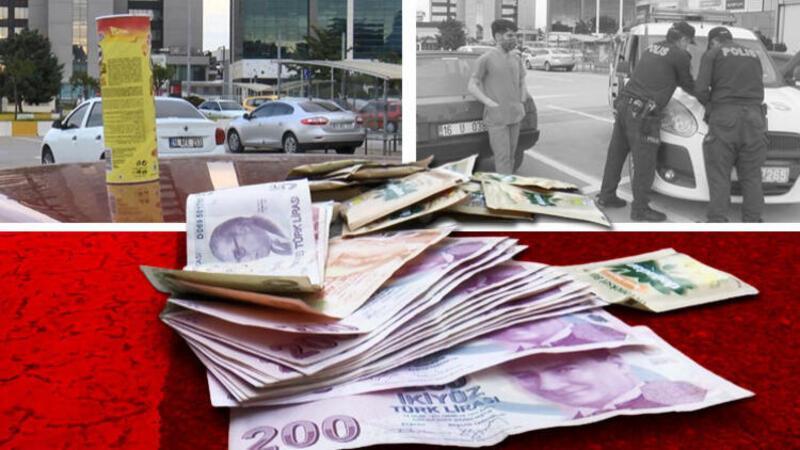 Aracının üzerinde para dolu cips kutusu bulan hemşire, polise teslim etti