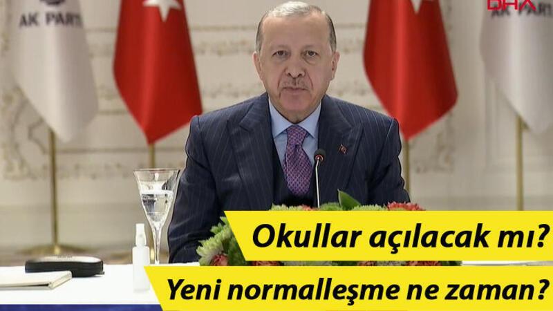 Cumhurbaşkanı Recep Tayyip Erdoğan, gençlerle video konferans ile görüştü