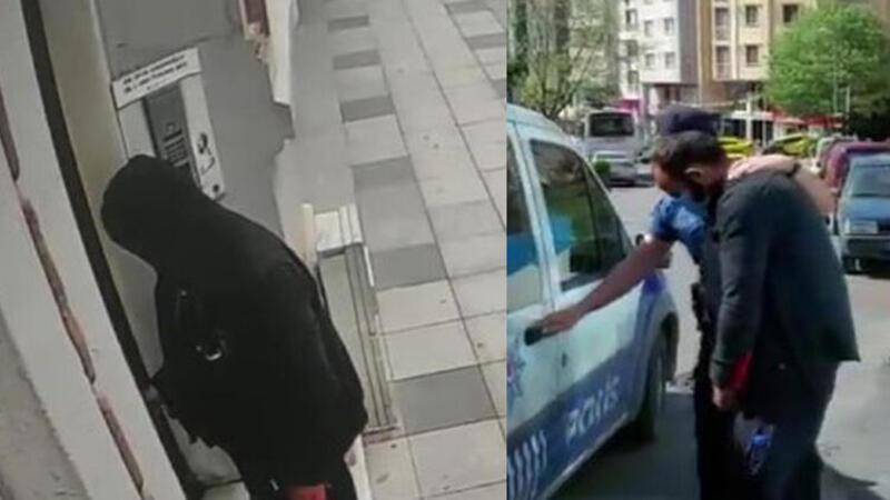 Şişli ve Beşiktaş'ta görüntülendi! Kapı topuzlarını böyle çaldı