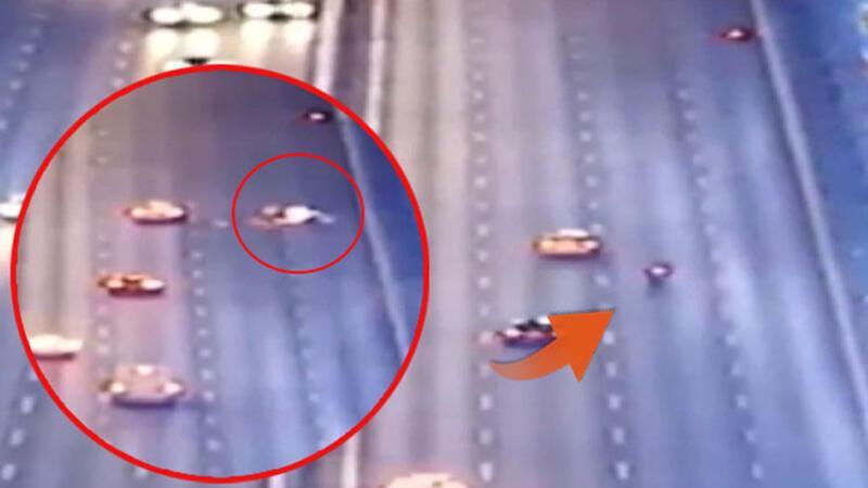 FSM'de 22 yaşındaki motosikletlinin öldüğü kaza anı