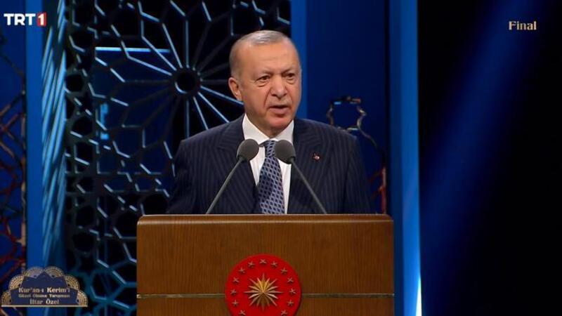 Cumhurbaşkanı Erdoğan, Kur'an-ı Kerim'i Güzel Okuma yarışması ödül törenine katıldı