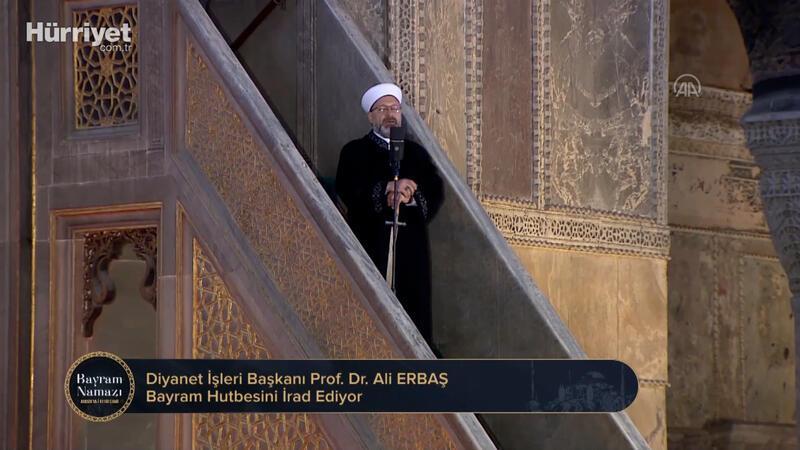 Diyanet İşleri Başkanı Ali Erbaş, Ramazan Bayramı Namazını kıldırdı