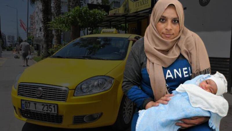 Suriyeli anne, bebeğini doğum için bindiği takside dünyaya getirdi